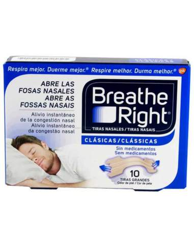 TIRA NASAL BREATHE RIGHT GRANDE 10 UNIDADES
