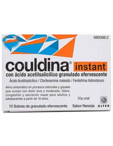 COULDINA INSTANT CON ACIDO ACETILSALICILICO 500/2/7.5 MG 10