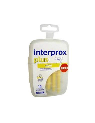 CEPILLO INTERPROX PLUS MINI 10 UNIDADES (AMARILLO)