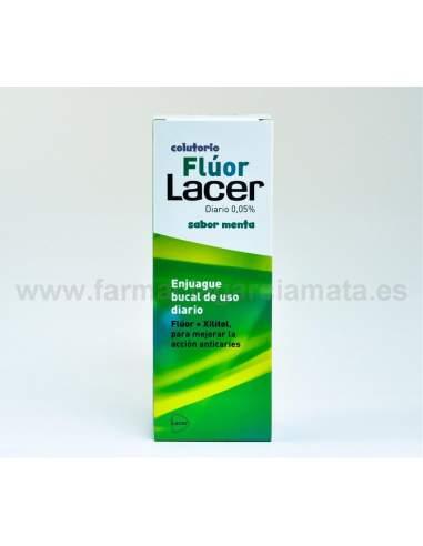FLUOR LACER COLUTORIO DIARIO 0,05 % MENTA 500 ML