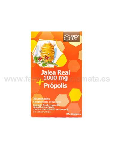 ARKOREAL JALEA REAL + PROPOLIS 2O AMPOLLAS 15 ML