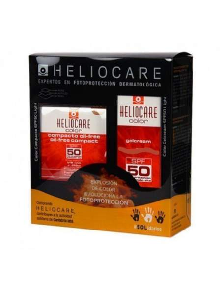 HELIOCARE PACK GEL CREMA BROWN SPF 50 + COMPACTO OIL-FREE BROWN