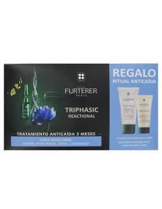 RENE FURTERER TRIPHASIC REACTIONAL AMP + CHAMPU 50 ML + BALSAMO
