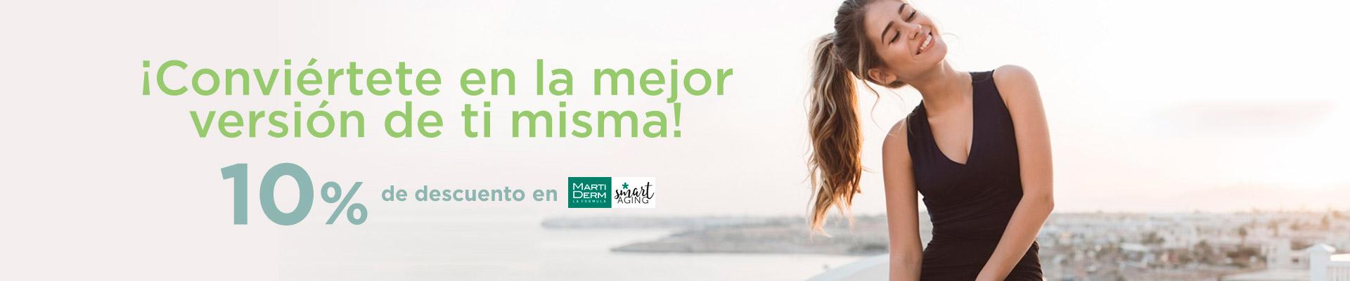 Descuento del 10% en productos Martiderm de la Farmacia Sandra García de la Mata