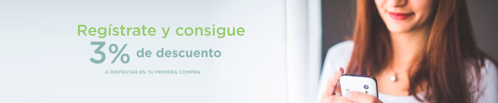 Descuento del 3% por registrarse en la Farmacia Sandra García de la Mata