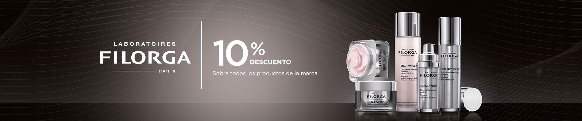 Promoción 10% en todos los productos Filorga