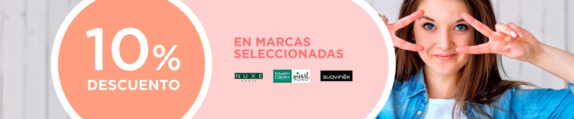 Descuento del 10% en varias marcas de productos faciales de la Farmacia Sandra García de la Mata